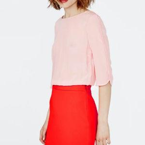 Maje Pink Reggio Two Tone Contrast Dress NWOT
